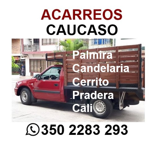 Acarreos palmira, Candelaria pradera, rozo, el cerrito, villagorgona, cali